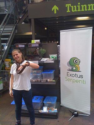 Reptielen demonstratie Intratuin Zoetermeer