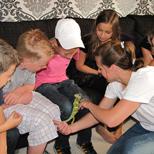 Kinderfeestje thuis met reptielen